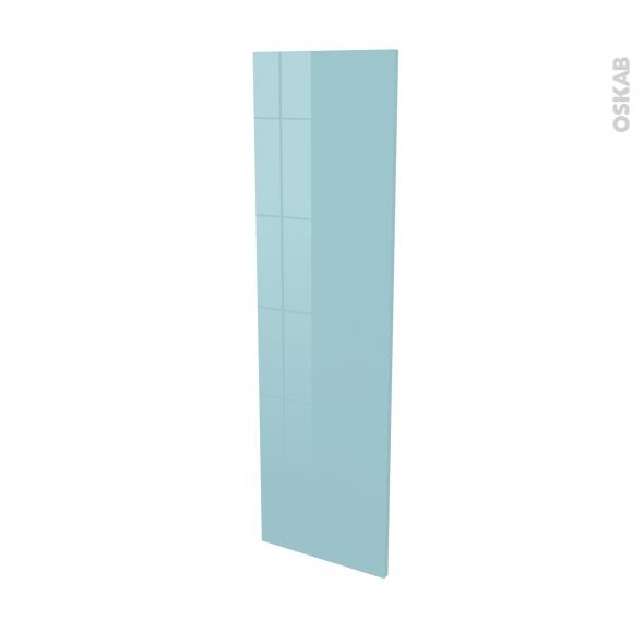 Finition cuisine - Joue N°34 - KERIA Bleu - Avec sachet de fixation - L37 x H125 x Ep.1.6 cm
