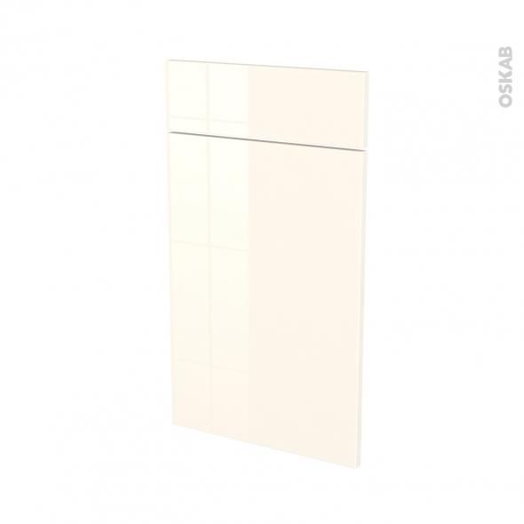 Façades de cuisine - 1 porte 1 tiroir N°51 - KERIA Ivoire - L40 x H70 cm