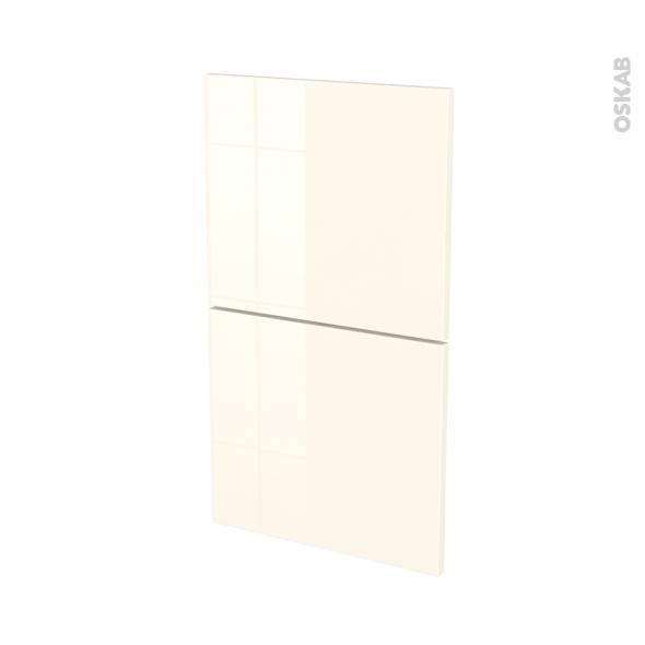 Façades de cuisine - 2 tiroirs N°52 - KERIA Ivoire - L40 x H70 cm