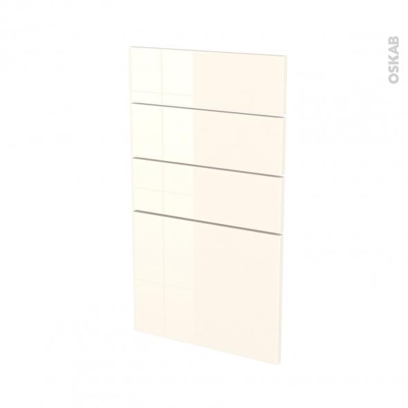Façades de cuisine - 4 tiroirs N°53 - KERIA Ivoire - L40 x H70 cm