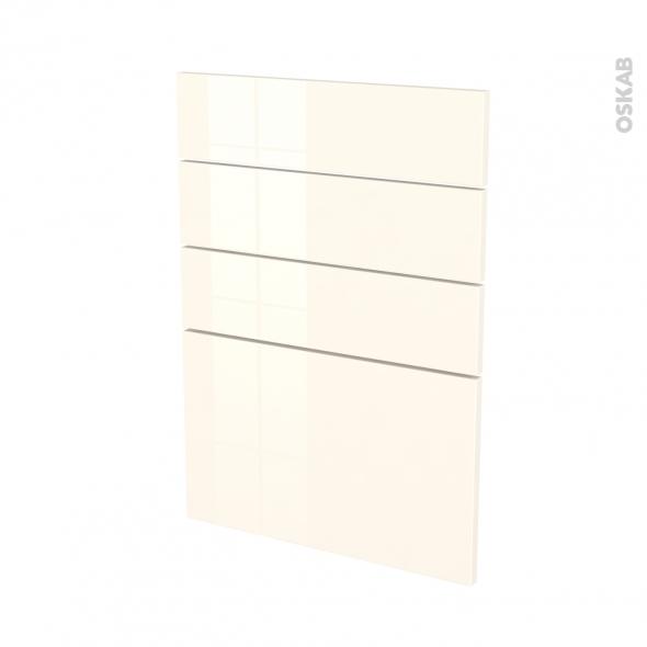 Façades de cuisine - 4 tiroirs N°55 - KERIA Ivoire - L50 x H70 cm