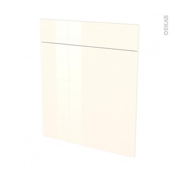 Façades de cuisine - 1 porte 1 tiroir N°56 - KERIA Ivoire - L60 x H70 cm