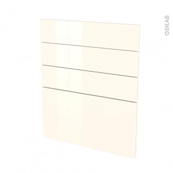 Façades de cuisine - 4 tiroirs N°59 - KERIA Ivoire - L60 x H70 cm