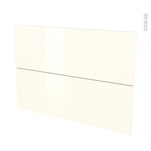 Façades de cuisine - 2 tiroirs N°61 - KERIA Ivoire - L100 x H70 cm