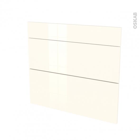 KERIA Ivoire - façade N°74 3 tiroirs - L80xH70