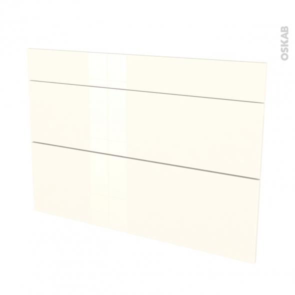 Façades de cuisine - 3 tiroirs N°75 - KERIA Ivoire - L100 x H70 cm