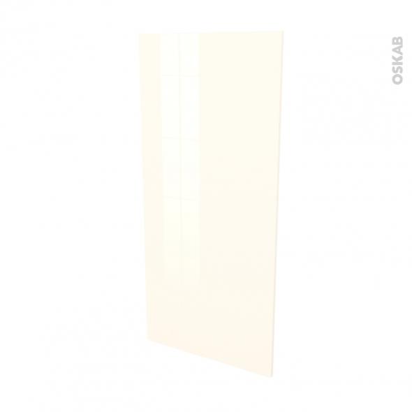 Finition cuisine - Joue N°33 - KERIA Ivoire - Avec sachet de fixation - L58 x H125 x Ep.1.6 cm