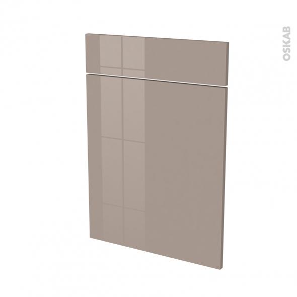 Façades de cuisine - 1 porte 1 tiroir N°54 - KERIA Moka - L50 x H70 cm