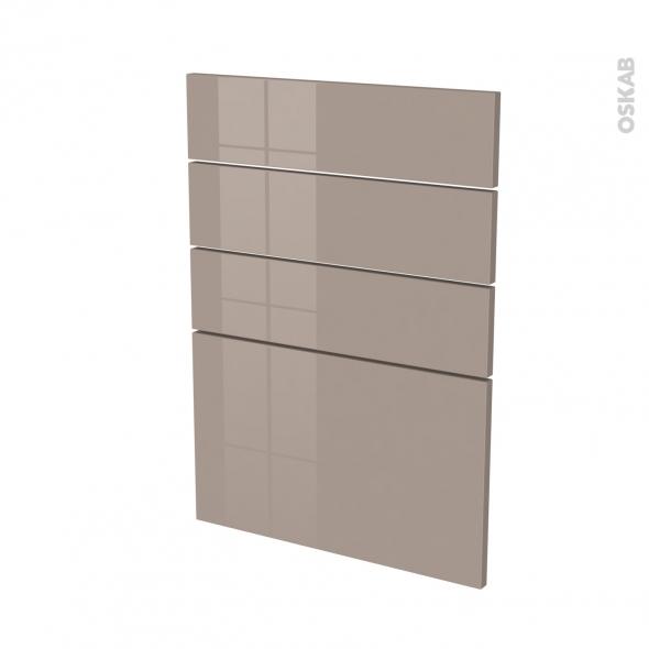 Façades de cuisine - 4 tiroirs N°55 - KERIA Moka - L50 x H70 cm
