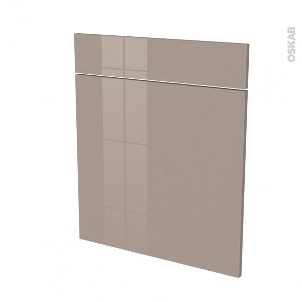 Façades de cuisine - 1 porte 1 tiroir N°56 - KERIA Moka - L60 x H70 cm