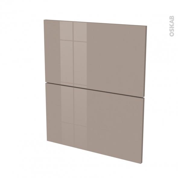 KERIA Moka - façade N°57 - 2 tiroirs - L60xH70