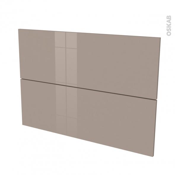 KERIA Moka - façade N°61 2 tiroirs - L100xH70