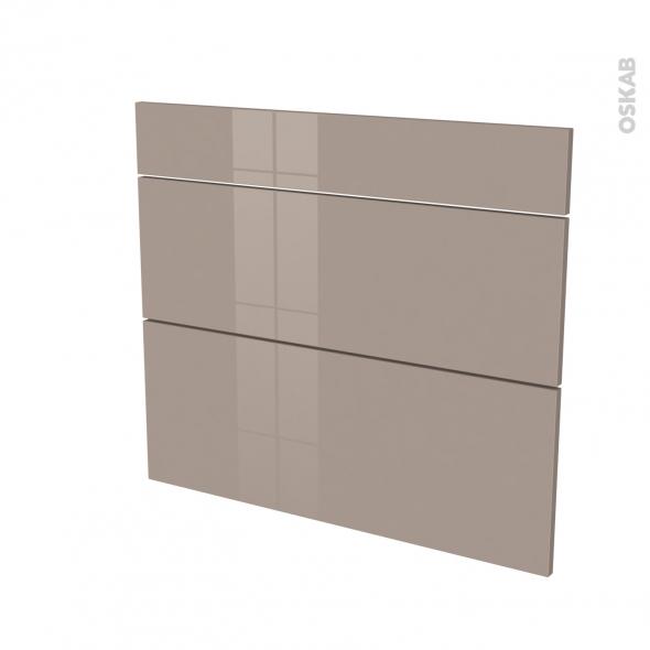 Façades de cuisine - 3 tiroirs N°74 - KERIA Moka - L80 x H70 cm