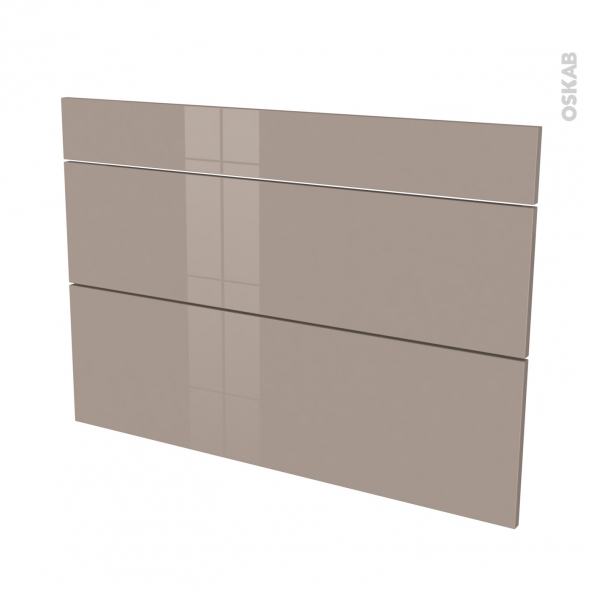 Façades de cuisine - 3 tiroirs N°75 - KERIA Moka - L100 x H70 cm