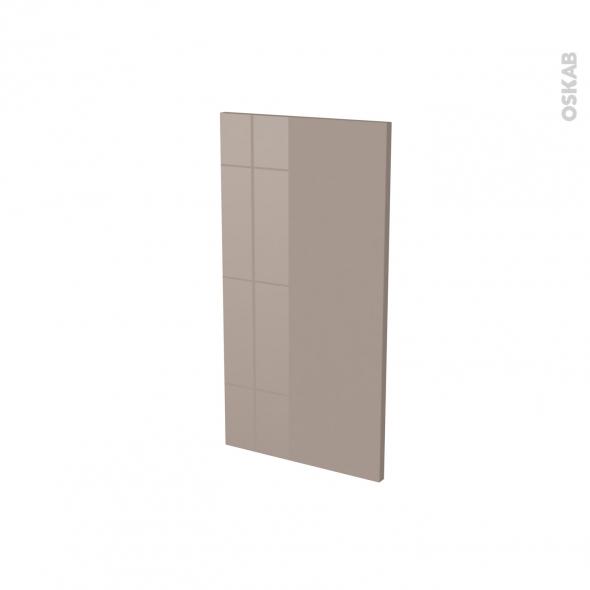 Finition cuisine - Joue N°30 - KERIA Moka - Avec sachet de fixation - L37 x H70 x Ep.1.6 cm