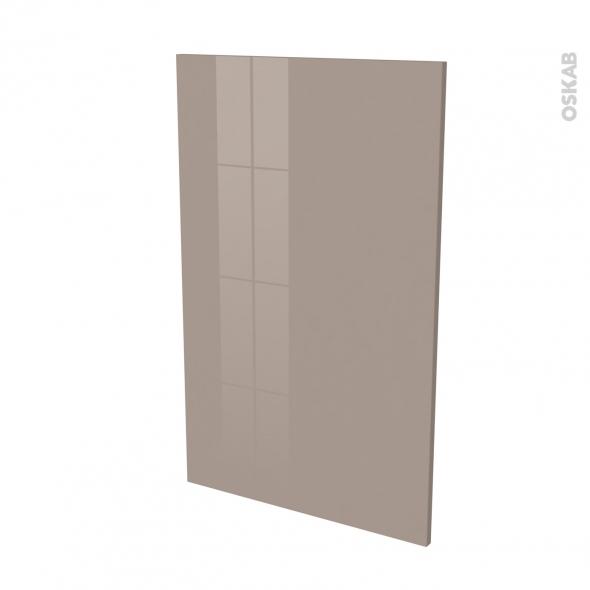 Finition cuisine - Joue N°31 - KERIA Moka - Avec sachet de fixation - L58 x H92 x Ep.1.6 cm