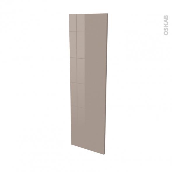 Finition cuisine - Joue N°34 - KERIA Moka - Avec sachet de fixation - L37 x H125 x Ep.1.6 cm