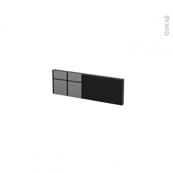 Façades de cuisine - Face tiroir N°1 - KERIA Noir - L40 x H13 cm