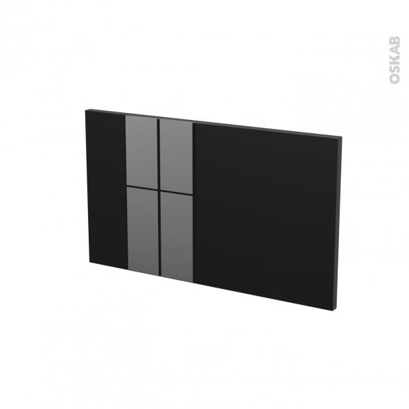 Façades de cuisine - Face tiroir N°10 - KERIA Noir - L60 x H35 cm