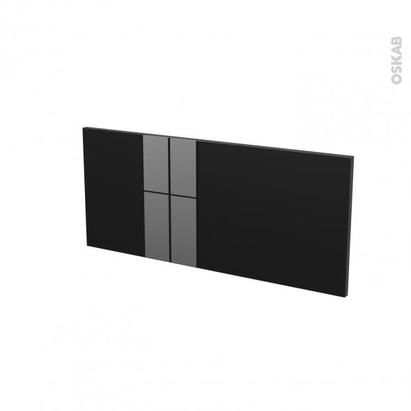 Façades de cuisine - Face tiroir N°11 - KERIA Noir - L80 x H35 cm