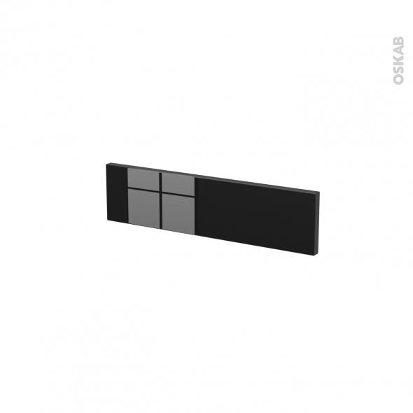 Façades de cuisine - Face tiroir N°2 - KERIA Noir - L50 x H13 cm