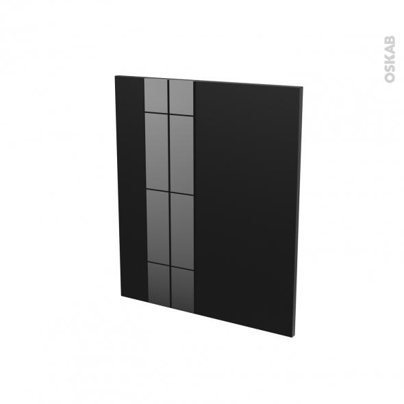KERIA Noir - Porte N°21 - Lave vaisselle full intégrable - L60xH70