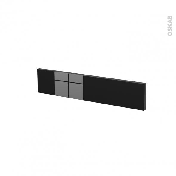 Façades de cuisine - Face tiroir N°3 - KERIA Noir - L60 x H13 cm