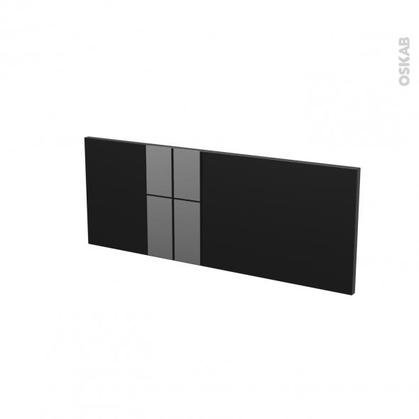 Façades de cuisine - Face tiroir N°38 - KERIA Noir - L80 x H31 cm
