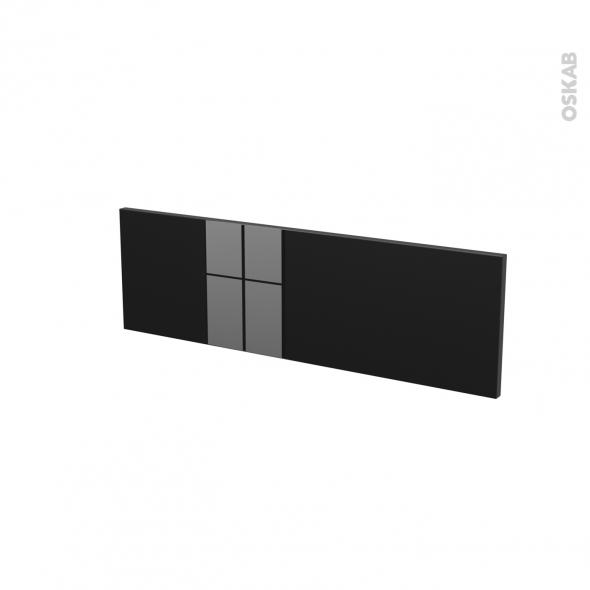 Façades de cuisine - Face tiroir N°39 - KERIA Noir - L80 x H25 cm