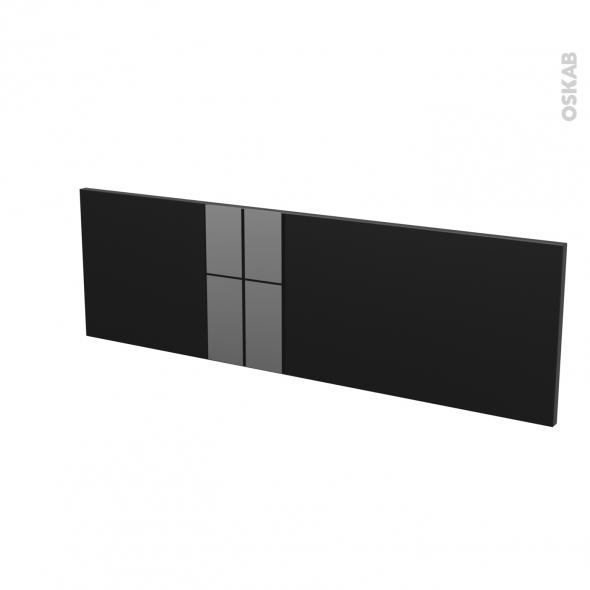 Façades de cuisine - Face tiroir N°40 - KERIA Noir - L100 x H31 cm