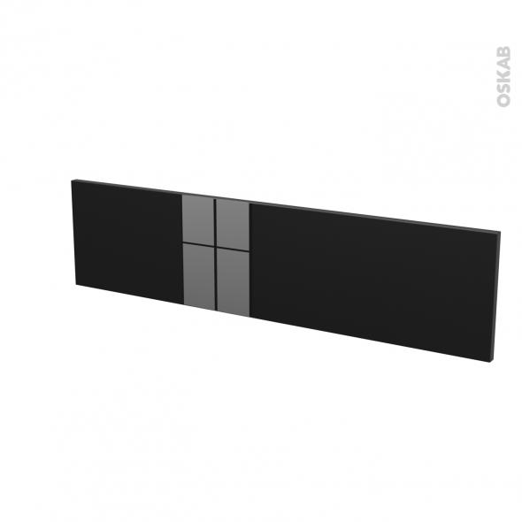 Façades de cuisine - Face tiroir N°41 - KERIA Noir - L100 x H25 cm