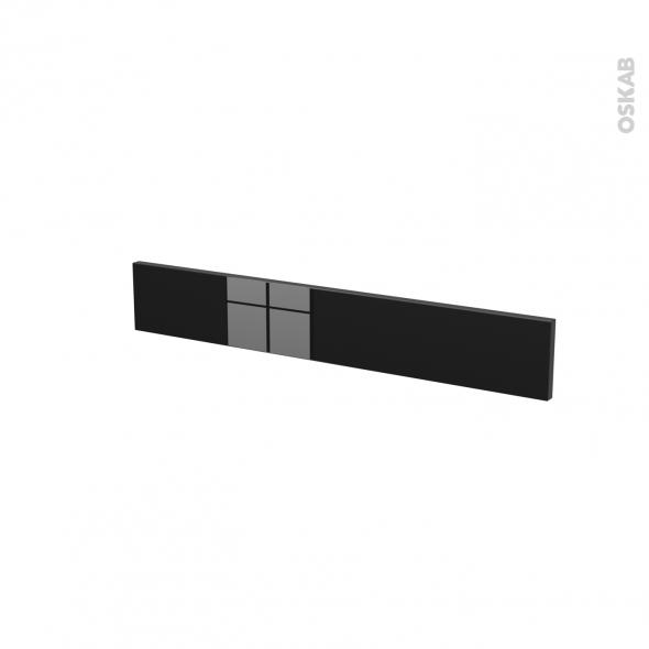 Façades de cuisine - Face tiroir N°42 - KERIA Noir - L80 x H13 cm