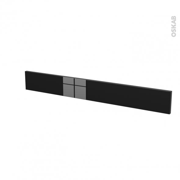 Façades de cuisine - Face tiroir N°43 - KERIA Noir - L100 x H13 cm
