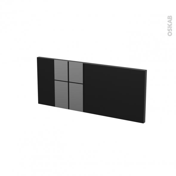 Façades de cuisine - Face tiroir N°5 - KERIA Noir - L60 x H25 cm