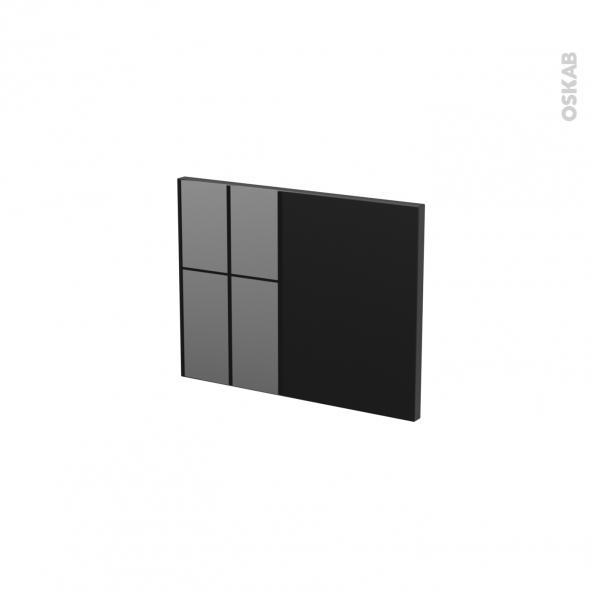 Façades de cuisine - Face tiroir N°6 - KERIA Noir - L40 x H31 cm