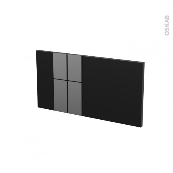 Façades de cuisine - Face tiroir N°8 - KERIA Noir - L60 x H31 cm