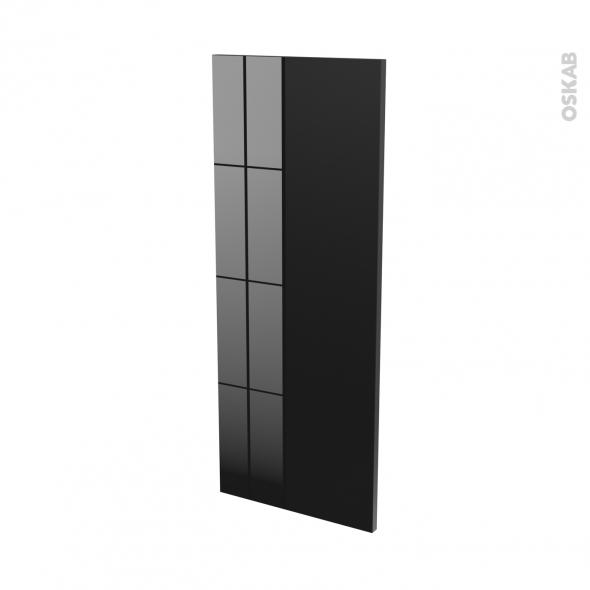 Finition cuisine - Joue N°32 - KERIA Noir - L37 x H92 cm