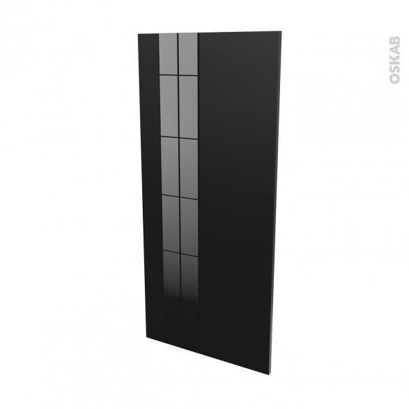 KERIA Noir - Rénovation 18 - joue N°80 - Avec sachet de fixation - L60 x H125 Ep.1.2 cm