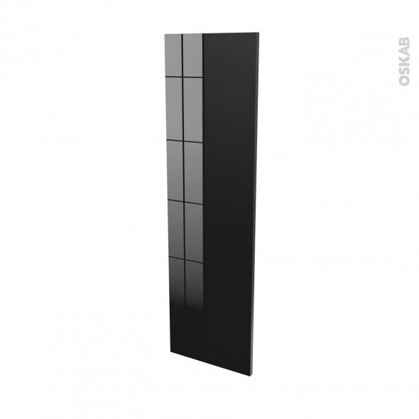 Finition cuisine - Joue N°34 - KERIA Noir - L37 x H125 cm