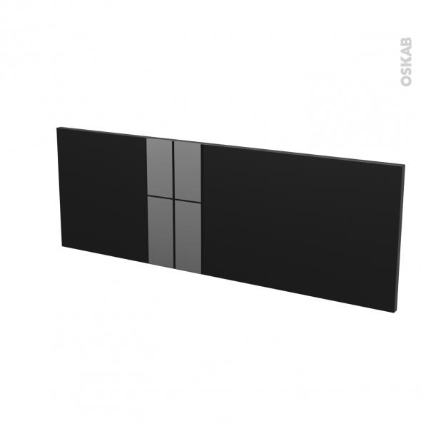 Façades de cuisine - Porte N°12 - KERIA Noir - L100 x H35 cm