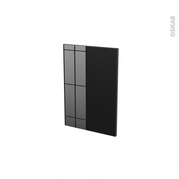 Façades de cuisine - Porte N°14 - KERIA Noir - L40 x H57 cm