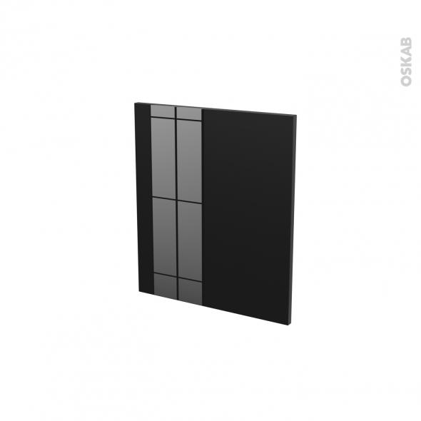 Façades de cuisine - Porte N°15 - KERIA Noir - L50 x H57 cm