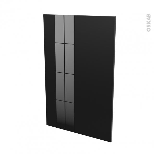 Façades de cuisine - Porte N°24 - KERIA Noir - L60 x H92 cm