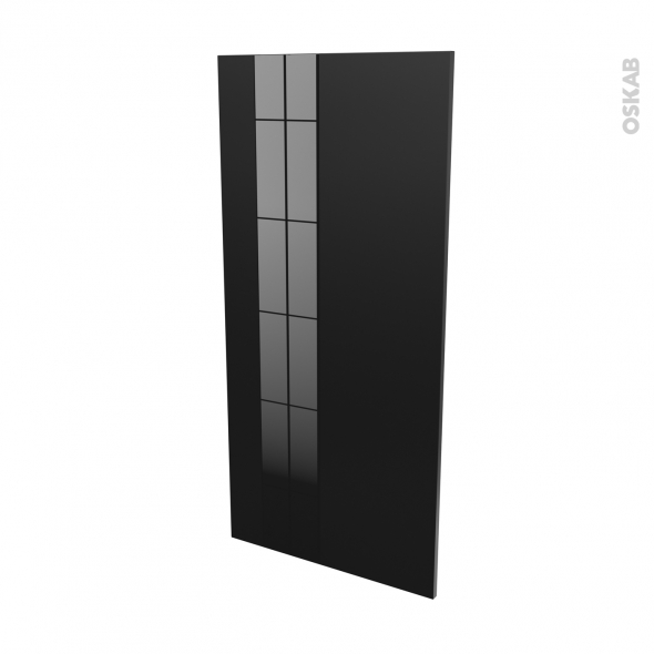 Façades de cuisine - Porte N°27 - KERIA Noir - L60 x H125 cm