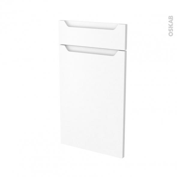 Façades de cuisine - 1 porte 1 tiroir N°51 - PIMA Blanc - L40 x H70 cm
