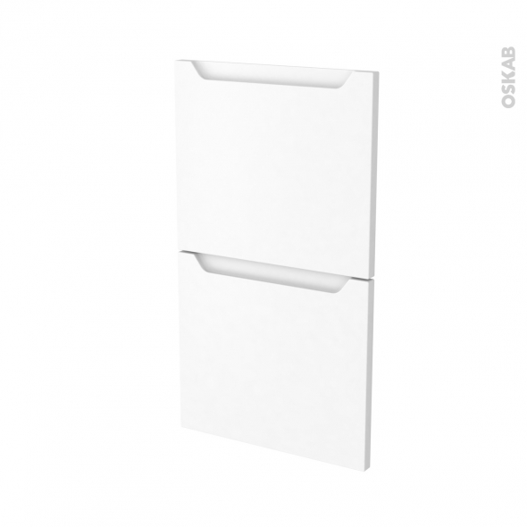 PIMA Blanc - façade N°52  2 tiroirs - L40xH70