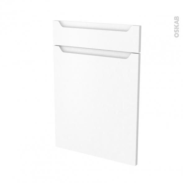 PIMA Blanc - façade N°54 1 porte 1 tiroir - L50xH70