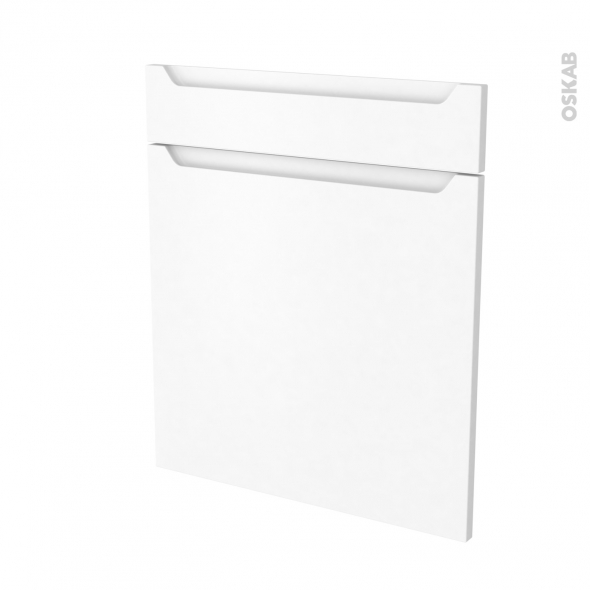 PIMA Blanc - façade N°56 1 porte 1 tiroir - L60xH70