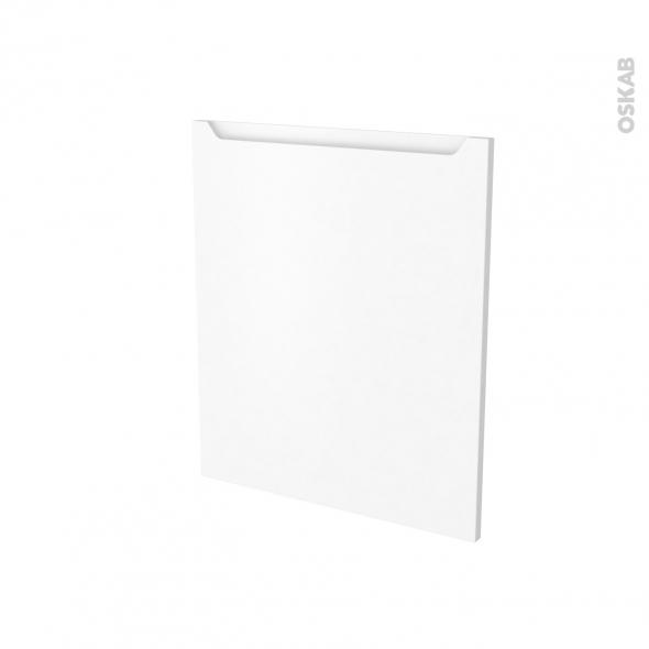 PIMA Blanc  - Porte N°21 - Frigo sous plan intégrable - L60xH70