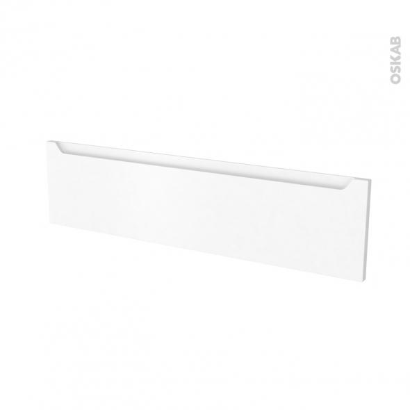 Façades de cuisine - Face tiroir N°41 - PIMA Blanc - L100 x H25 cm